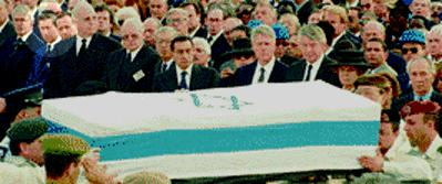 Leaders at Rabin funeral